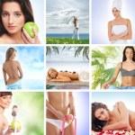 collages de spa et de la santé de certaines des images lumineuses — Photo