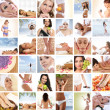 Beautiful spa and health collage made of many elements — 图库照片