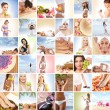 Beautiful spa and health collage made of many elements — Stok fotoğraf