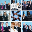 Stock Photo: Bright business collage with the team of some