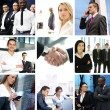 Business collage made of many different pictures — Stock Photo