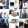 Stock Photo: Business collage made of many different pictures