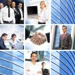 Business collage made of many different pictures - Foto Stock