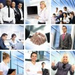 Business collage made of many different pictures — Stock Photo #15364609