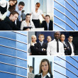 Business collage made of many different pictures — Stock fotografie