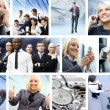 Business collage made of many different pictures — Stock Photo #15364631