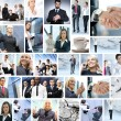 Business collage made of many different pictures — Stockfoto