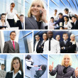 Stock Photo: Business collage made of many different pictures about