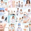 Plastic surgery collage made of some different pictures — Stockfoto #15364737