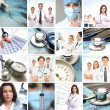 Collage made of some medical elements — Stock Photo #15364803