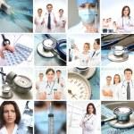 collage av vissa medicinska elementen — Stockfoto