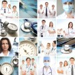 Collage made of some medical elements — Stock Photo #15364885