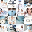 Collage made of some medical elements — Stock Photo #15364903