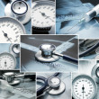 Collage made of medical elements — Stock Photo