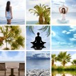 Stock Photo: Collage about health and meditation
