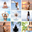 Royalty-Free Stock Photo: Collage about health and meditation