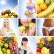 Beautiful collage about healthy eating and nutrition — Stock Photo #15365047