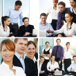 Business team working in office — Stock Photo #15365307