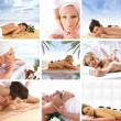 collage su salute e spa — Foto Stock