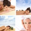 Collage about health and spa — Stock Photo #15365387