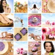 Beautiful spa collage made of many elements — Stock Photo