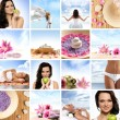 Stock Photo: Beautiful spa collage made of many elements