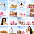 Beautiful spa collage made of many elements — Foto de Stock