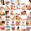Great collage made of 36 pictures about health, dieting, sport a - Stock Photo