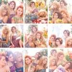 Spring fashion collage — Stock Photo