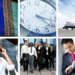 Collage abut business traveling — 图库照片