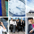 Collage abut business traveling - Stockfoto