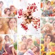 lente mode collage — Stockfoto