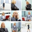 Young sexy business woman collage — Stock Photo