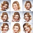 Foto Stock: Collage with nine portraits