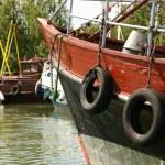 Harbor of fisherman's wilage — Stock Photo