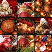 Colagem de natal — Foto Stock