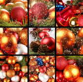 Kerstmis collage — Stockfoto