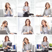 Business-frau, die im büro arbeiten — Stockfoto