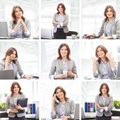 オフィスで働く女性実業家 — ストック写真