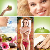 Assistenza sanitaria collage di alcune immagini — Foto Stock