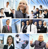 Business collage made of many different pictures about — Stock Photo