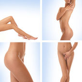 Sexig kropp av unga vackra kvinnan — Stockfoto