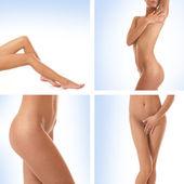 Sexy lichaam van jonge mooie vrouw — Stockfoto
