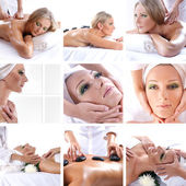 Collage about beauty, spa and health care — Stock Photo