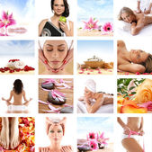 Beautiful spa collage made of many elements. Perfect as illustra — Stock Photo