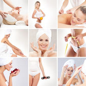 Spa collage made of many different elements — Stock Photo