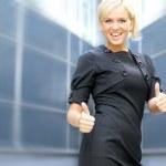 若い魅力的なビジネスの女性 — ストック写真