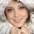 Portrait of young attractive winter woman — Stock Photo