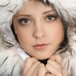 Portrait of young attractive winter woman — Stock Photo #15373243