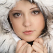 Stock Photo: Portrait of young attractive winter woman
